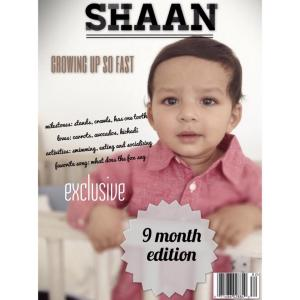 Shaan 9 mo Magazine Cover